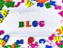för blogbegrepp för bakgrund 3d ord för white Royaltyfria Bilder