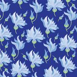 För blommabakgrund för prydnad blå vektor stock illustrationer