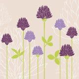 för blommafjäder för kort eps10 vektor för tema Fotografering för Bildbyråer