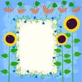 för blommafjäder för kort eps10 vektor för tema Royaltyfri Foto
