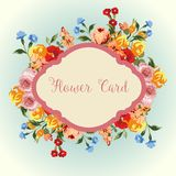 för blommafjäder för kort eps10 vektor för tema Royaltyfri Fotografi
