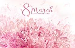 8 för blommahälsning för marsch kort Arkivbild