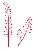 för blommahjärta för bakgrund blom- vektor Royaltyfri Bild