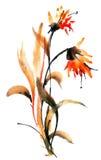 för blommaillustration för bukett blom- vektor