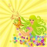 för blommaillustration för fjärilar felik vektor royaltyfri illustrationer
