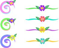 för blommamix för stänger färgrika spiral royaltyfri illustrationer