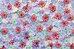 För blommamodell för broderi färgrik textur och bakgrund på a Royaltyfri Bild