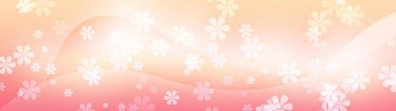 för blommatitelrad för bakgrund blom- rengöringsduk royaltyfri illustrationer