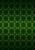 För blomningmodell för utträde blom- gul vektor för mörker Royaltyfri Bild