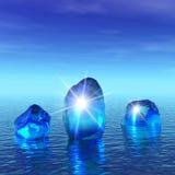 is för blue 3d Arkivbild