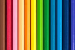 För blyertspennadetalj för slut upp färgad stil för färg för abstrakt begrepp Arkivbild