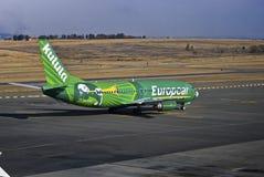 för boeing för flygbolag 4s3 737 zs för oao kulula Arkivfoto