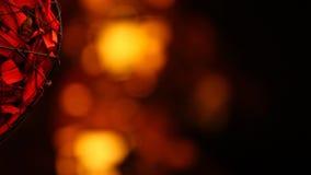 För bokehhd för rosa kronblad guld- längd i fot räknat
