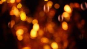 För bokehhd för såpbubblor guld- längd i fot räknat