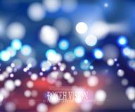 För bokehvision för vektor abstrakt design för bakgrund Royaltyfria Foton