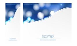 För bokehvision för vektor abstrakt mall för design Royaltyfri Foto