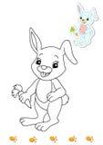 för bokfärgläggning för 13 djur kanin royaltyfri illustrationer