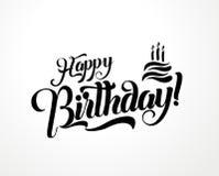 För bokstävertext för lycklig födelsedag illustration för vektor Design för födelsedaghälsningkort vektor illustrationer