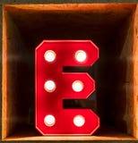 För bokstavsalfabet för ljus kula glödande stilsort för tecken A Arkivbild