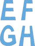För bokstavssymboler för B C D ett alfabet vektor illustrationer