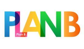 För bokstavsvektor för PLAN B färgrikt överlappande baner royaltyfri illustrationer