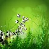 för bollgräs för bakgrund 3d green gjorde fotboll Fotografering för Bildbyråer