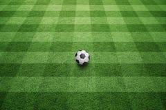 för bollgräs för bakgrund 3d green gjorde fotboll Arkivfoto