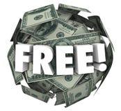 För bollsfär för fria pengar avtal för specialt erbjudande för bonus för ord Arkivfoto