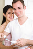 för borstapar för badrum tänder Royaltyfri Fotografi