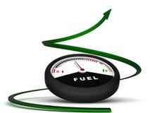 för bränslegreen för pil dimensionellt räkneverk tre stock illustrationer