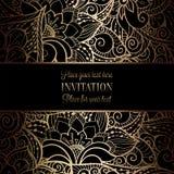 För bröllopinbjudan för tappning barock mall royaltyfri illustrationer