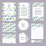 För bröllopkort för vektor försiktig mall Arkivbild