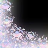 För bröllopkort för tappning sjaskig chic design, banermall, romantisk garnering för vår, pastell, blå lilak för rosa färger och  royaltyfri illustrationer