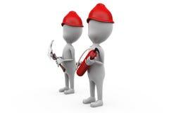 för brandarbetare för man 3d begrepp Arkivbild