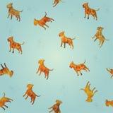 för brandhundkapplöpning för bullterrier sömlös textur royaltyfria foton
