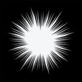 För bristningsvit för vektor abstrakt radiell stjärna Royaltyfri Bild