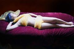 för brunnsortbehandling för huvuddel lyxigt omslag Royaltyfri Foto