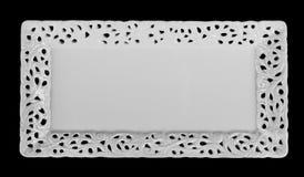 För bunkeportion för fyrkant grund maträtt Arkivfoto