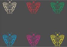 För butterflyonkrita för tappning retro bräde Arkivfoto
