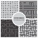 För BW för vektor sömlös samling för modell rektangel Fotografering för Bildbyråer