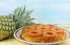 för cake ananasöversida ner Fotografering för Bildbyråer