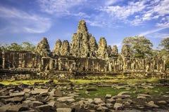 för cambodia för angkorasia bayon wat tempel Arkivbilder