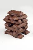 för caramelchoklad för 3 stång kaka Arkivfoto