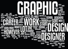 För Career Text Background för grafisk formgivare begrepp för moln ord royaltyfri illustrationer