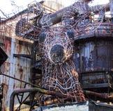 För Carrie Blast Furnace för nationell historisk gränsmärke konst stål arkivbild