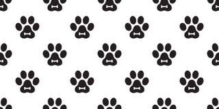 För Cat Paw för hundPaw Seamless Pattern vektor illustration för bakgrund för tegelplatta för tapet för repetition för kattunge f stock illustrationer