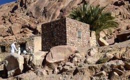 För Catherin för ökenplatsnearSt en kloster för es `, Sinai halvö, Egypten Fotografering för Bildbyråer