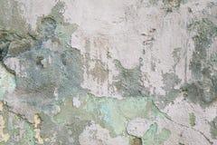 För för cementgrå färger och gräsplan för Grunge skrapad gammal vägg med skadat och, bakgrund för grungecementabstrakt begrepp, t Arkivfoton