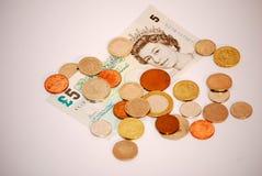 för centändring för australier 10 valuta pieces litet Fotografering för Bildbyråer