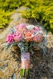för central gifta sig för ro för punkt dof-blomma för bukett fokal- lågt Royaltyfri Fotografi